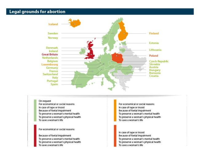 Abort-Report Legal grounds for abortion in Europe
