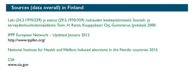 Abort-Report: Sources (data overall) Finland