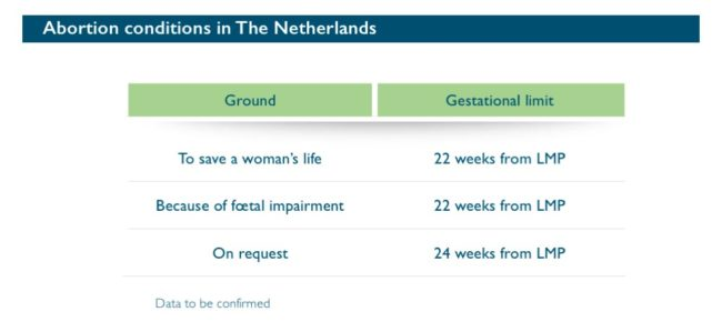 Abort-Report: Abortion conditions in Netherlands
