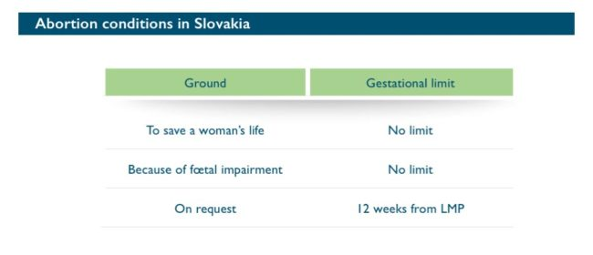 Abort-Report: Abortion conditions in Slovakia
